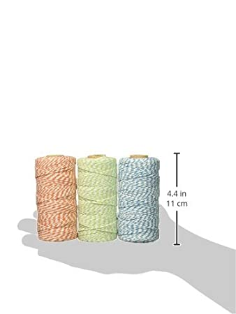 Set of 3 110-Yard Spool Black and Orange//Brown//Black Wrapables 12-Ply Cotton Bakers Twine for Gift Wrapping and Arts and Crafts
