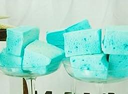 Aqua/Tiffany Blue Jumbo Madagascar Vanilla Bean Homemade Marshmallows (12) Gourmet Dessert Gifts