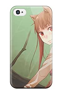 Fashion Tpu Case For Iphone 4/4s- Spice And Wolf Defender Case Cover by supermalls