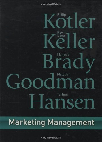 Marketing Management: First European Edition
