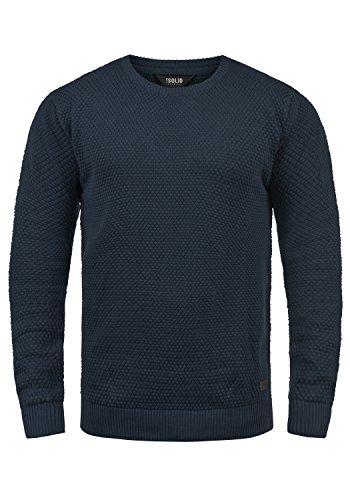 Blue Con Hombre Suéter 100 Redondo 1991 Karl Algodón Cuello Para solid De Punto Insignia Jersey wx04qBnOYS
