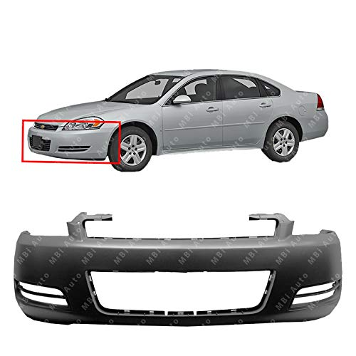 MBI AUTO - Primered, Front Bumper Cover for 2006 2007 2008 2009 2010 2012 2013 Chevy Chevrolet Impala, GM1000763