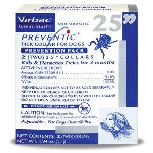 Virbac Preventic Tick Dog Collar, 25-Inch, 2-Pack, My Pet Supplies