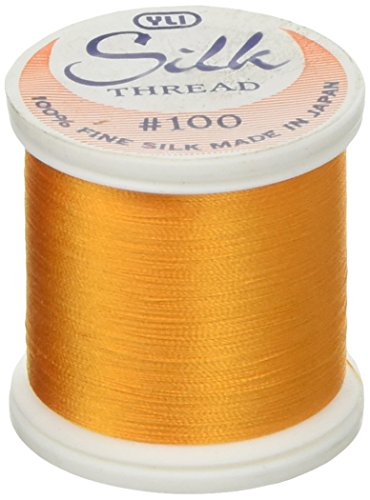 YLI Corporation 202-10-224 Silk Thread 100wt 200m-Taupe Beige