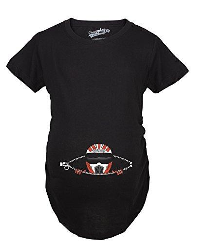 Crazy Dog TShirts - Maternity Peeking Racing Helment Biker Funny Pregnancy Announcement T shirt - Camiseta De Maternidad