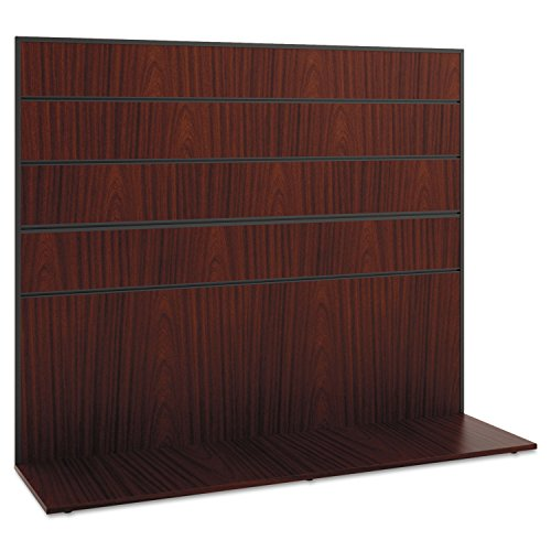 Resistant Worksurface (basyx Manage Series Work Wall, Laminate, 60w x 17d x 50h, Chestnut)
