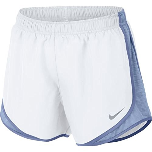 (Nike Womens Dry Tempo Shorts White/Blue Medium)