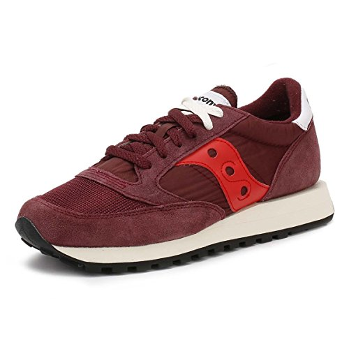 Saucony Mens Skor Mocka Utbildare Sneakers Jazz Original Vintage Bordeaux Burgundy / Red