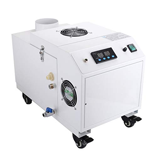 INTBUYING Ultrasonic Humidifier 6KG/h Portable Commercial Industrial Continuous Cool Mist Maker Humidifier for Greenhouse Facility Warehouse Large Room Up to 1900 Square Feet