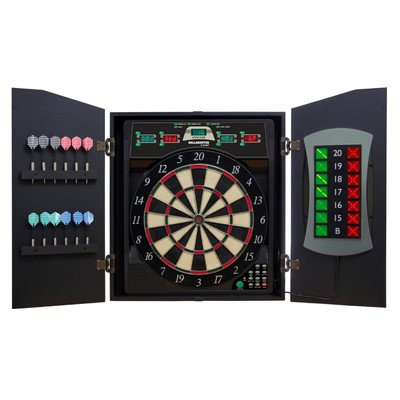 Arachnid Bullshooter E-Bristle Cricketmaxx 5.0 Dartboard Cabinet Set by Arachnid
