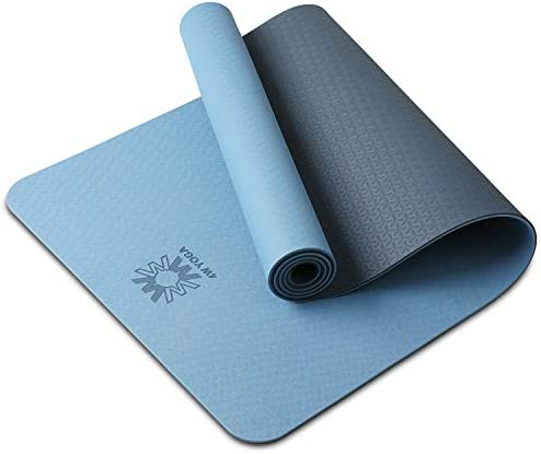 WWWW Yoga Mat Eco Friendly TPE Non Slip Yoga Mats by SGS Certified with Carrying Strap,72″x24″ Extra Thick 1/4″ for Yoga Pilates Fitness Exercise Mat