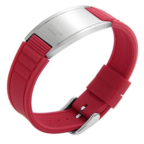SportSpirit Unisex Silicon Magnet Bracelet