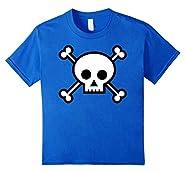 Cartoon Skull Crossbones Jolly Roger Pirate Funny T-Shirt