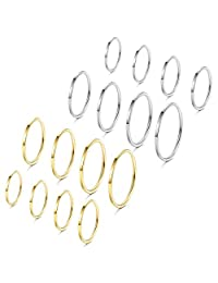 Subiceto 8-16 Pcs 1mm Stainless Steel Stacking Rings Knuckle Rings Plain Rings Midi Rings Comfort Fit Size 2 to 9