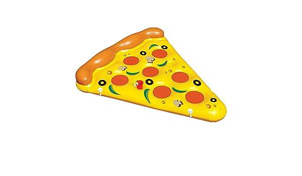 Asiento de los flotadores de la piscina del PVC de la forma de la pizza para los niños adultos Juguete del flotador de los muchachos de las muchachas de los ...
