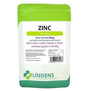Lindens Triple Fuerza Citrato de Zinc Max 2-180 PACQUETE ...