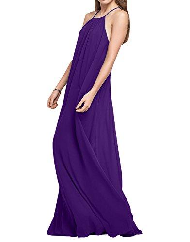 La Partykleider Linie Festlichkleider Lila A Lang Rock Elegant Brau Einfach Brautjungfernkleider mia Chiffon Abendkleider rZqa1wr0