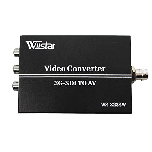 Wiistar 3G SDI to AV Converter BNC to RCA Audio Scaler Support Convert HD-SDI,3G-SDI Signal for TV