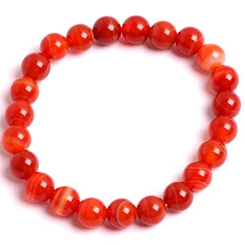 GEM-inside Red Agate Banded Crystal Quartz Stone Energy etsy Jewelry Fashion Bracelets for Women 7