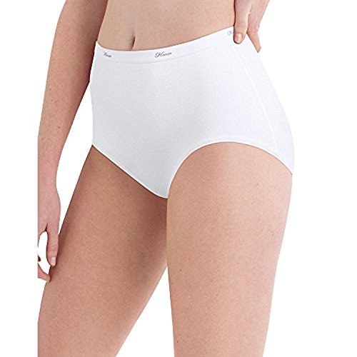 Hanes by Womens Cotton White Brief 10-Pack Pw40Wh_White_9