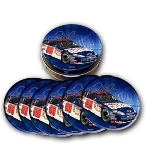 (Racing Reflections Dale Earnhardt, Jr Tin Coasters)