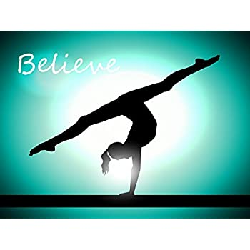 Amazon Com Female Gymnastics Poster Gymnast Inspiration