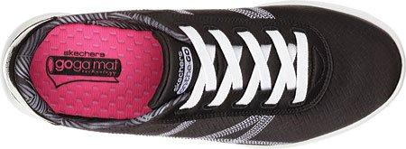 Skechers Womens Sur Le Go Arena Sneaker Noir / Blanc