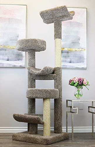 Prestige Cat Trees 130098-Neutral Staggered Cat Tower Cat Tree