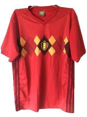 カウンターパート反対した請負業者?クリックポスト?大人用 A029 ベルギー 赤 18 ゲームシャツ パンツ付