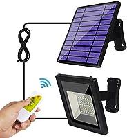 Luces solares al aire libre - Luces de inundación solares - Kits de luces colgantes de seguridad para el porch