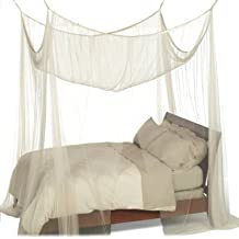 Four Conner Bed Mosquito Net Canopy Fit Crib Twin Full Queen King Size Beds White
