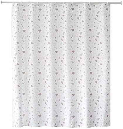 ブラックフックと強化ボタン穴、補強されたボタン穴付きホテルQualityシャワーストールカーテンやライナー (色 : White, サイズ : 1.8*2m)