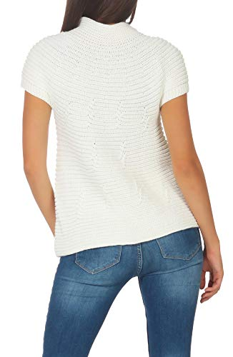 Botòn Cárdigan Blanco Mujer Suéter Largo Malito Talla 5060 Única Rebeca Basic OB5EnTqw