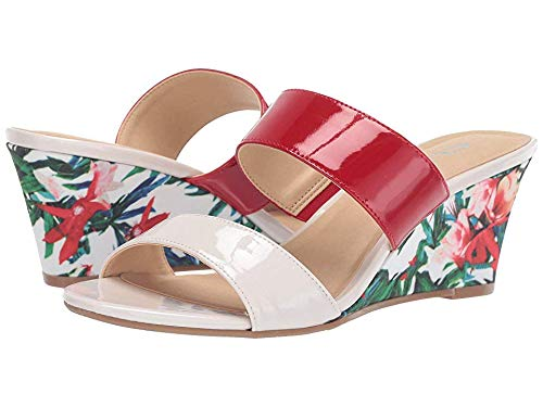 CL by Laundry Women's Tulip Cream/Flame Red Patent 6 M US