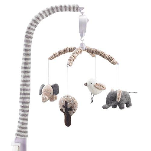 Lolli Living Musical Mobile – Elephants – Sturdy Design I...