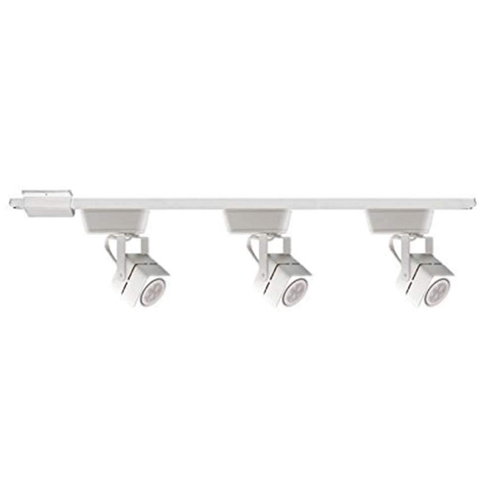 WAC Lighting CI-HHT-802/3-BK Low Voltage Three Light Track Lighting Kit in White Finish