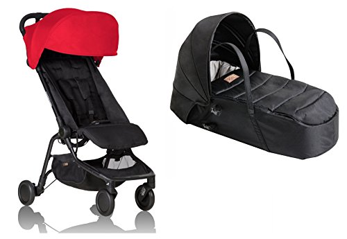 - Mountain Buggy Nano V2 Stroller with Bonus Cocoon Carrycot (Ruby)