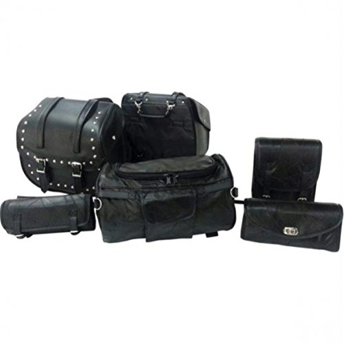 (Diamond Plate 6pc Motorcycle Bag Set)