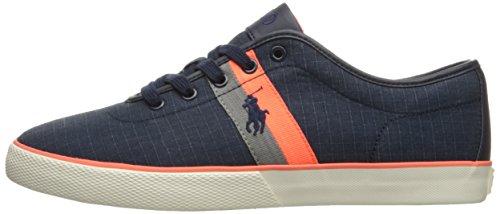 Polo Ralph Lauren Men's Halford Ripstop Fashion Sneaker, Navy, 11 D US
