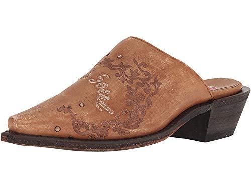 (Laredo Women's Rowdy Wild Soul Mules Snip Toe Tan 6 M)