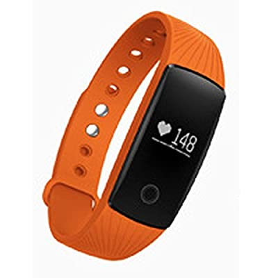 iMusi Fitness Tracker with Wrist-Based Heart Rate, Orange