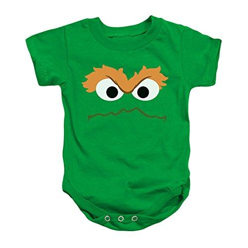 Oscar The Grouch Face Sesame Street Baby Onesie