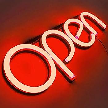 Amazon.com: Señal LED de neón para negocios con interruptor ...