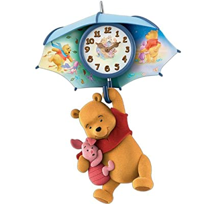 Wall Clock: Pooh And Piglet Blustery Days Wall Clock by The Bradford Exchange