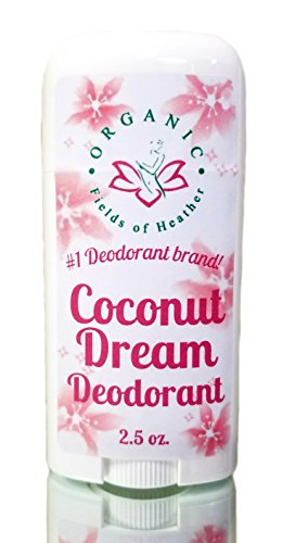 Organic Deodorant - Coconut Dream Scent - Healthy All Natural Deodorant Detoxes with No Aluminum - Handcrafted in New Hampshire - Best Natural Hypoallergenic Deodorant That Works