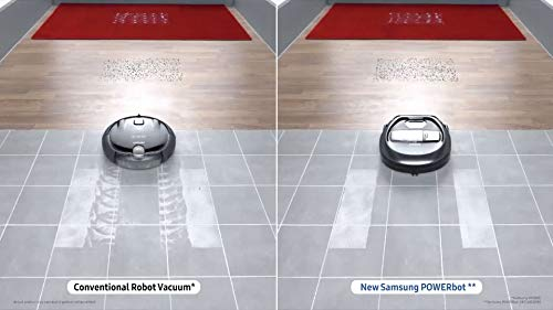 Samsung Electronics R7040 Robot Vacuum Wi-Fi Connectivity, Ideal for Carpets, Hard Floors, and Pet Hair with 3510Pa Strong Performance, Works with Amazon Alexa and the Google Assistant