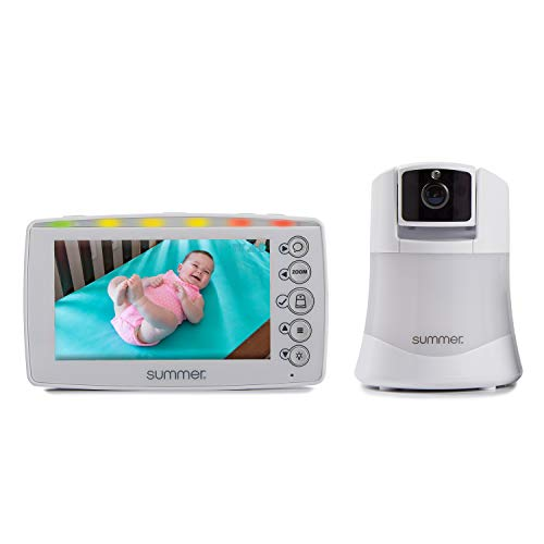 Summer Explore Panoramic Video Baby Monitor with 5-inch Digital Color Screen and Remote Steering Camera - Baby Video Monitor with Remote Digital Zoom, Two-Color Nightlight and Two-Way Talkback