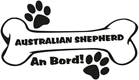 1 X Plott Aufkleber Hundeknochen Australian Shepherd An Bord Pfote Hund Dog Bone Auto