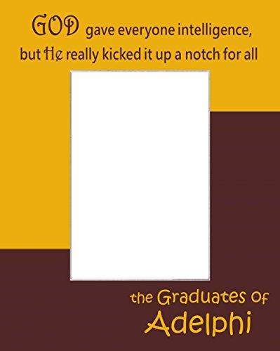 Adelphi University Grads Picture Frame Photo Mat Unique School Graduation Gift Personalize