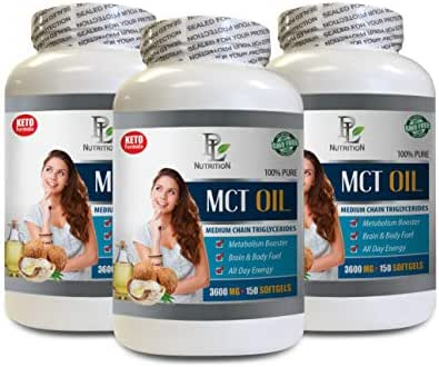 Best mct Oil for Weight Loss - MCT Oil 3600 MG - Medium Chain TRIGLYCERIDES - 100% Pure - mct Oil Capsules Best Seller - 3 Bottles 450 Softgels